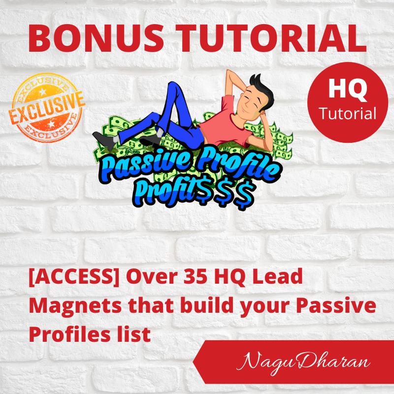 Passive Profile Profits Bonus#3