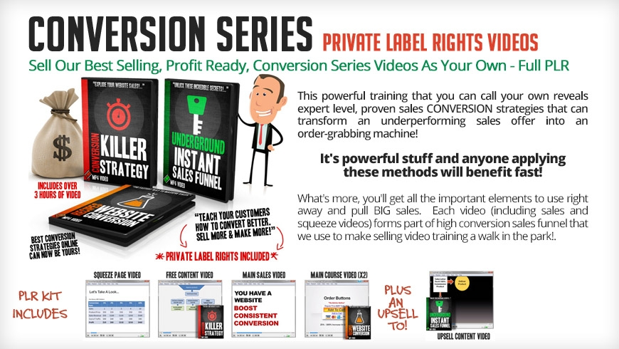 Conversion Series Video training With Private Label Rights
